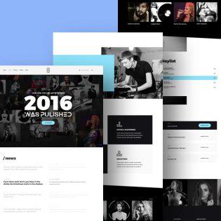 Music Studio Website Template Free PSD