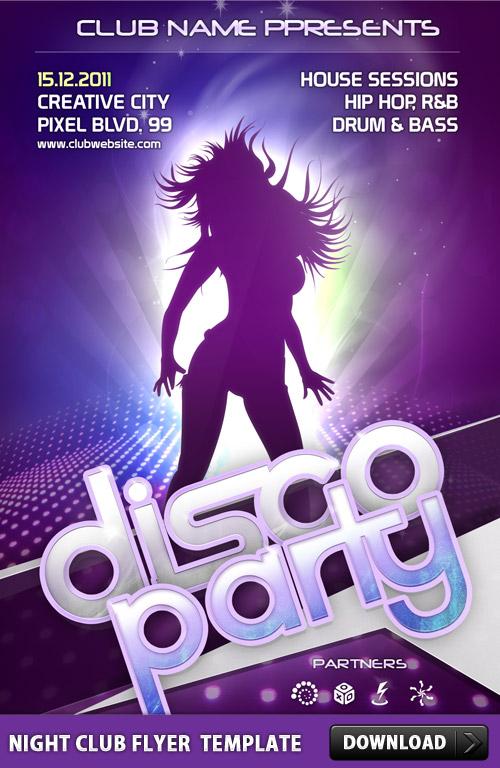 Night Club Flyer PSD Template L