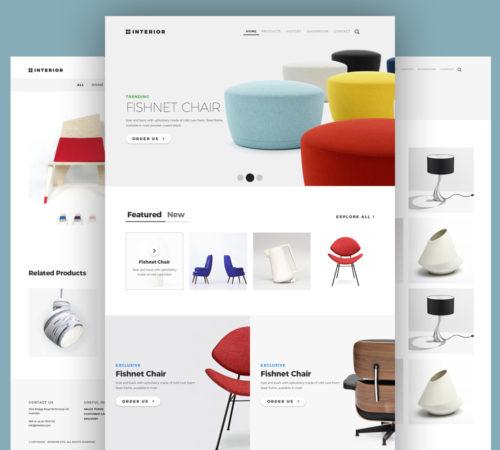 free online furniture store website template psd at. Black Bedroom Furniture Sets. Home Design Ideas