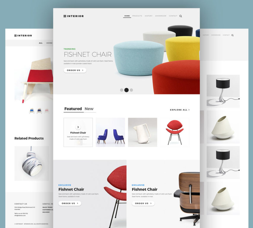 Free Online Furniture Store Website Template PSD At FreePSD.cc