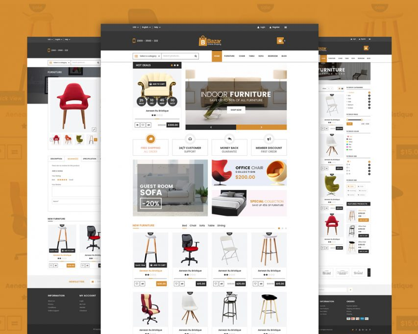 Free Online Retail Store Website Template Free PSD at FreePSD.cc