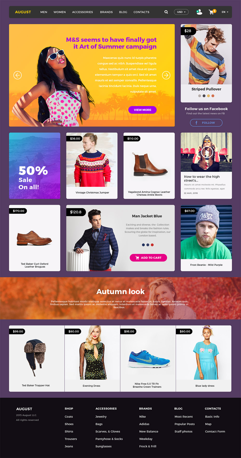Online Shopping ECommerce Website UI Kit Free PSD