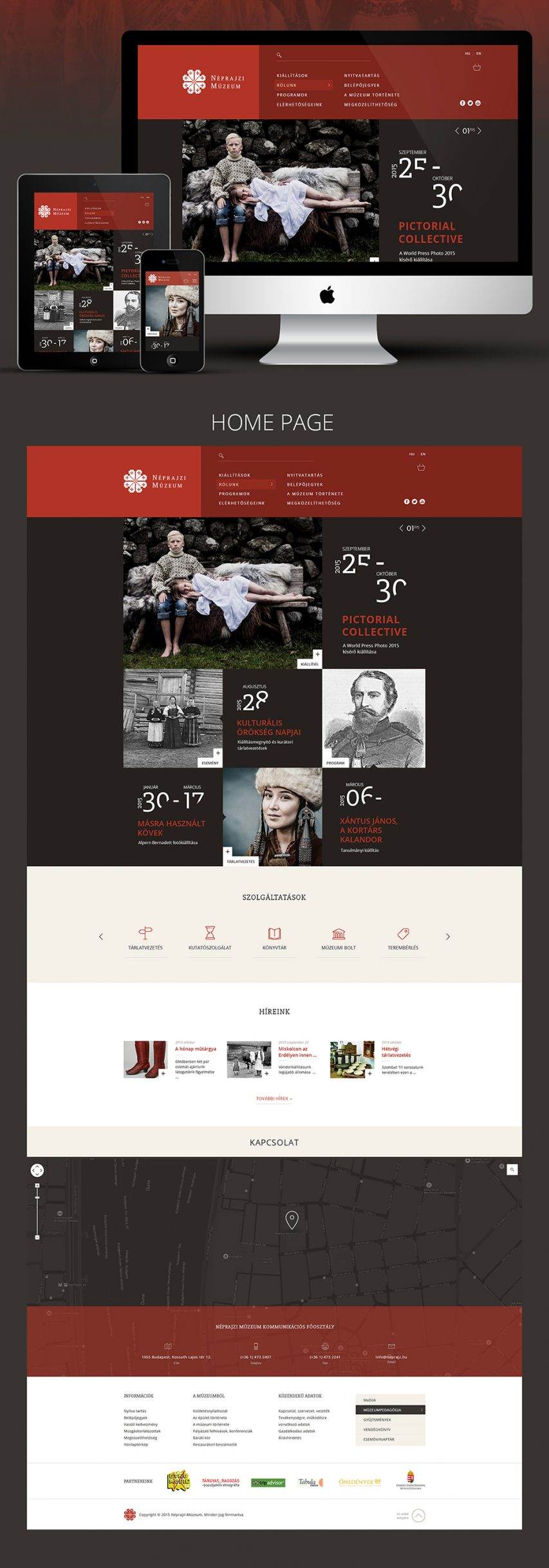 Free Photo Gallery Exhibition Website Free PSD Landing page at ...