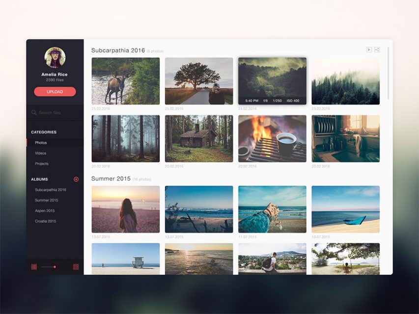 Free Photo Gallery Website Application Template Free PSD at FreePSD.cc