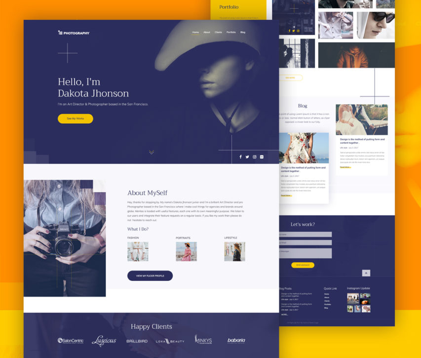 Free Photography Website Template Free PSD At FreePSDcc - Free photography website templates