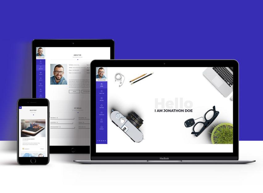 Free Portfolio & Resume Style Website Templates Free PSD at FreePSD.cc