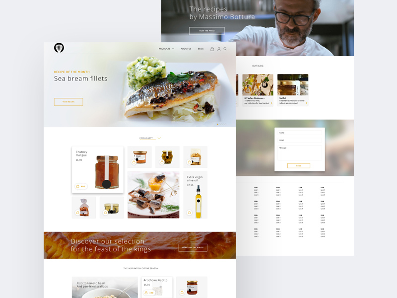 free clean restaurant website template free psd at freepsd cc