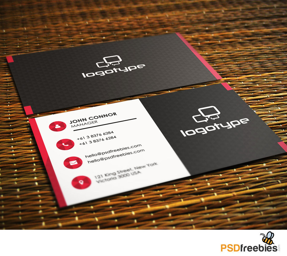 Professional Business Card Free PSD Template