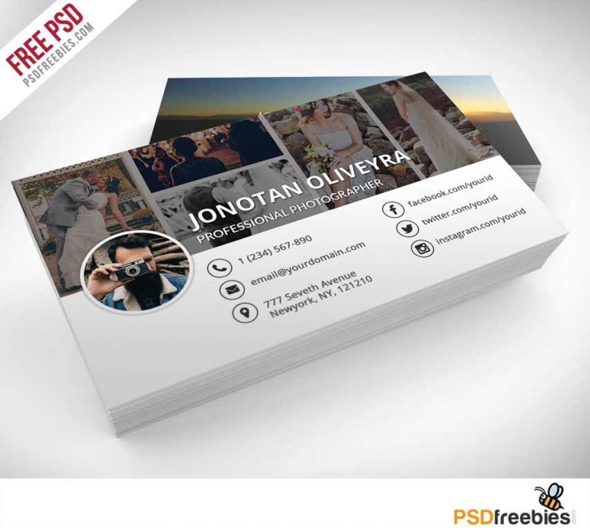 Free professional photographer business card psd template freebie at graphics wajeb Choice Image