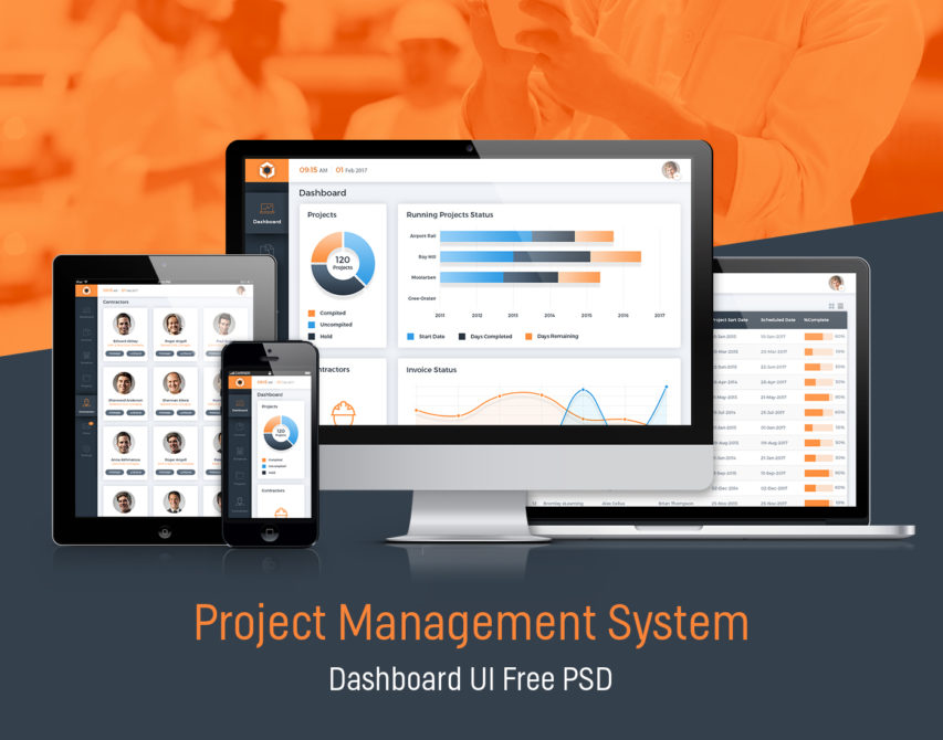 Free Project Management System Dashboard Gui Free Psd At