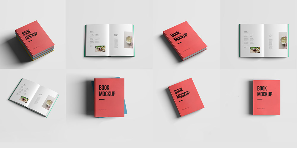 realistic book mockup template pack free psd 1000500