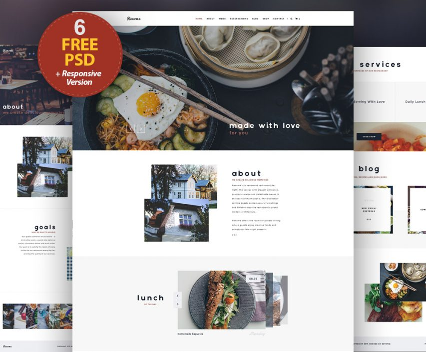 Free Responsive Restaurant Website Free Psd Templates At Freepsd