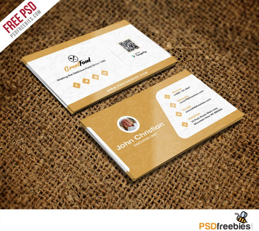 Free Restaurant Chef Business Card Template Free Psd At Freepsd