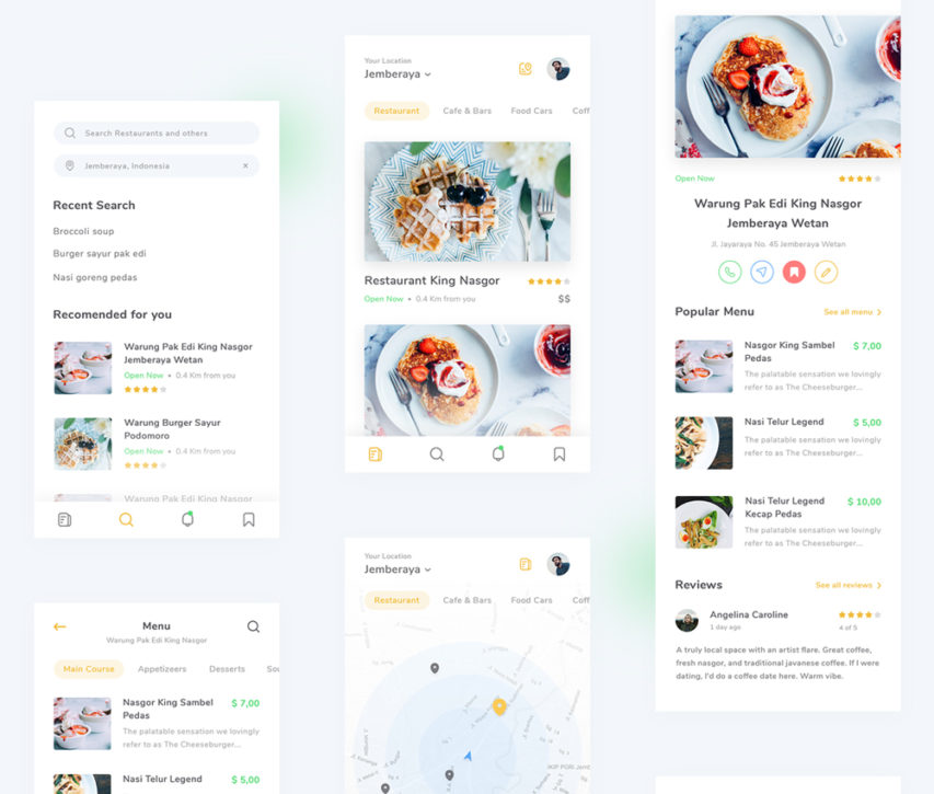 Restaurant Finder App PSD