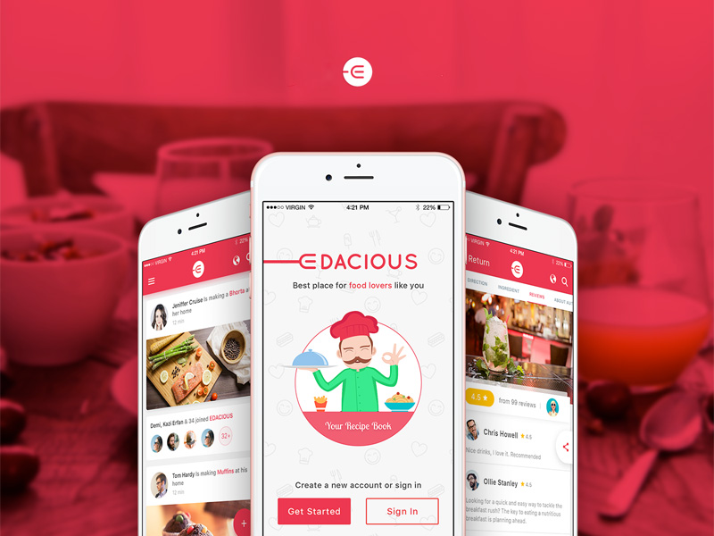 Free Restaurant Search App Free PSD at FreePSD.cc