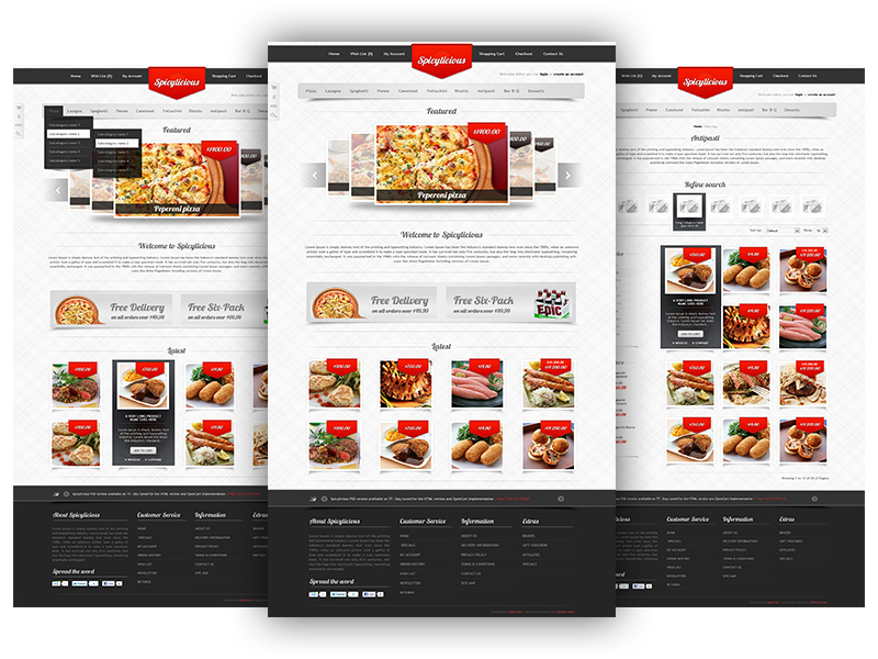 Free Restaurant Website Template Free PSD at FreePSD.cc