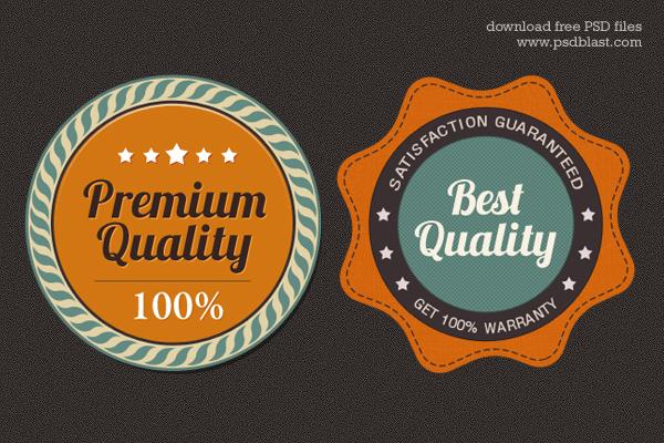Satisfaction Guarantee Award Badge PSD