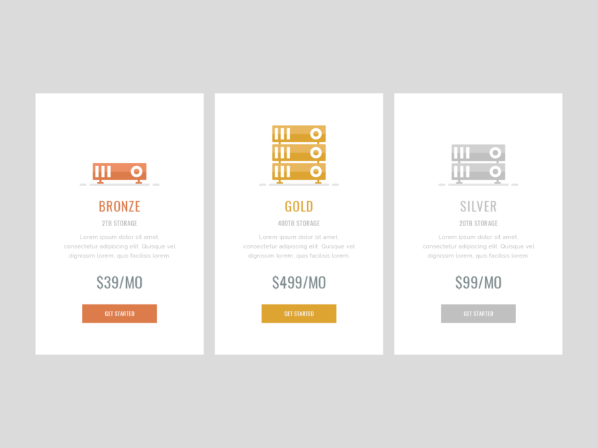 Free simple pricing table ui design free psd at for Table design ui