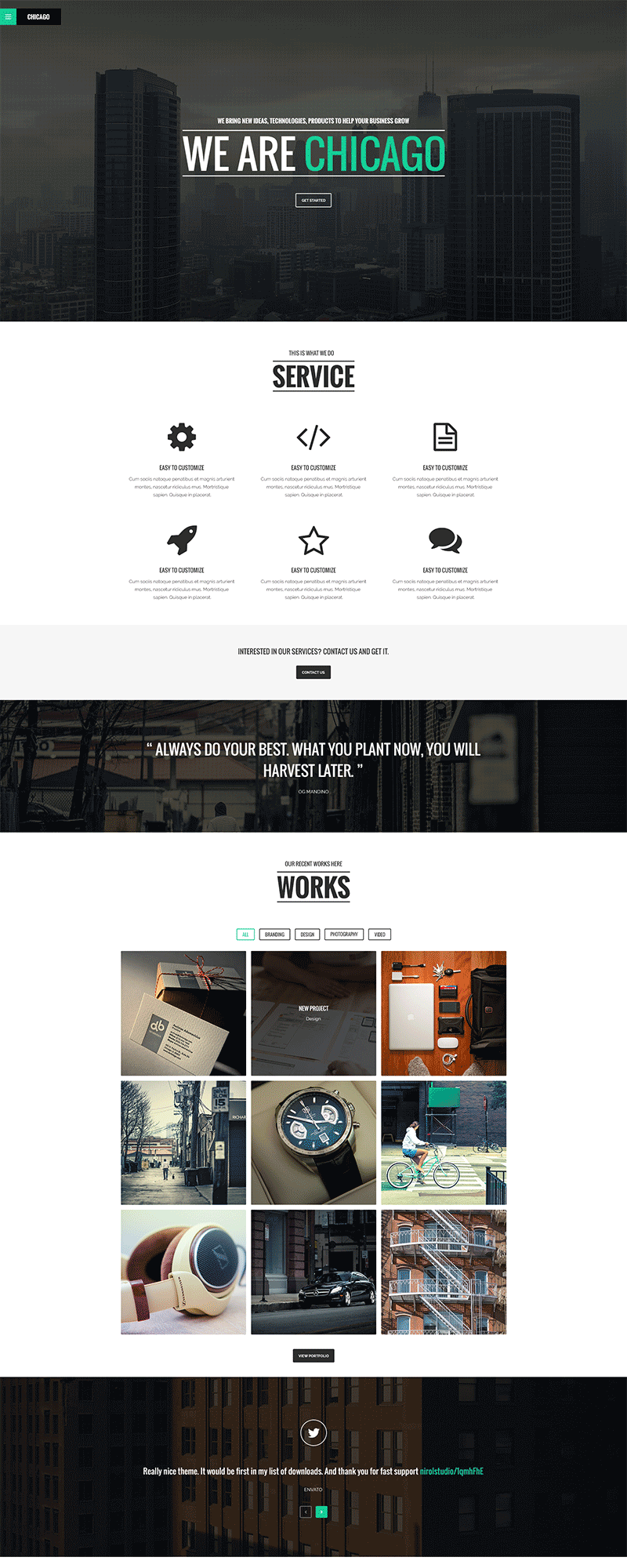 Free Simple Single Page Psd Website Template At Freepsd