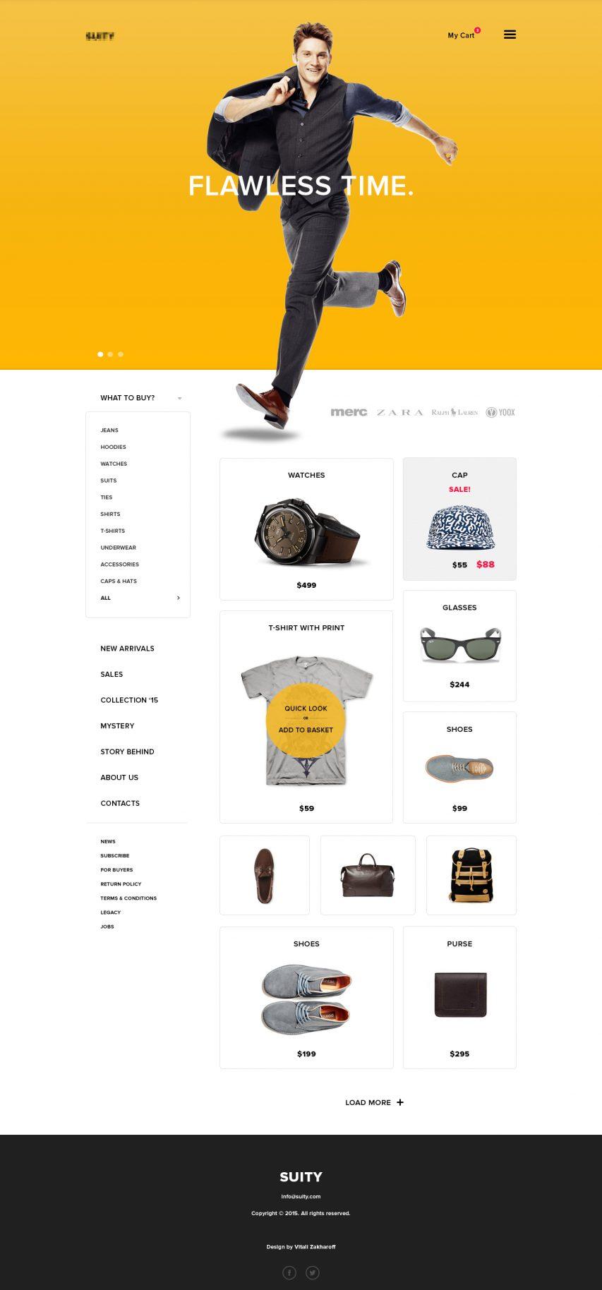 simple ecommerce website