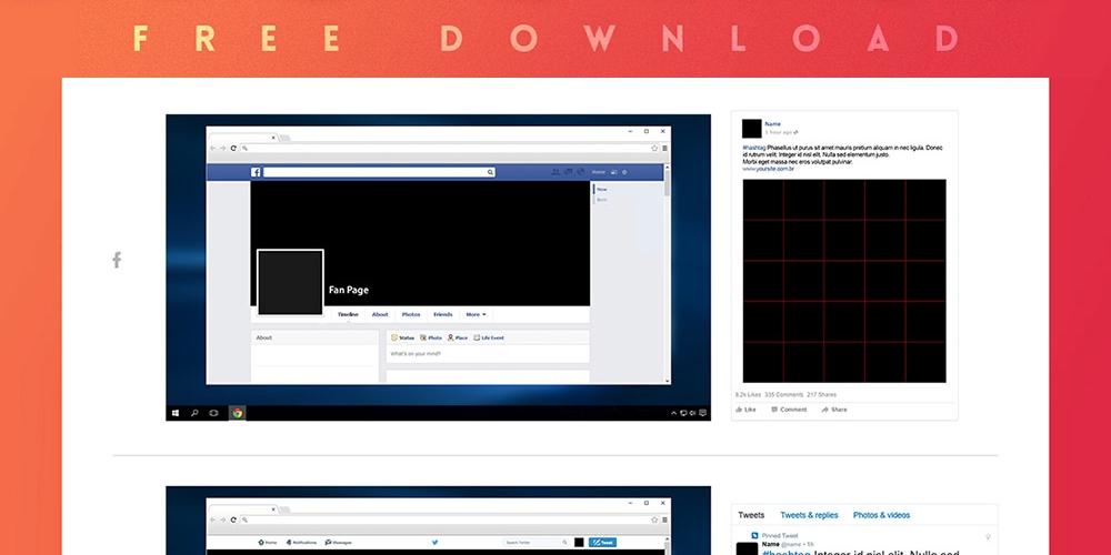 social media mockup kit free psd freepsd cc free psd files and