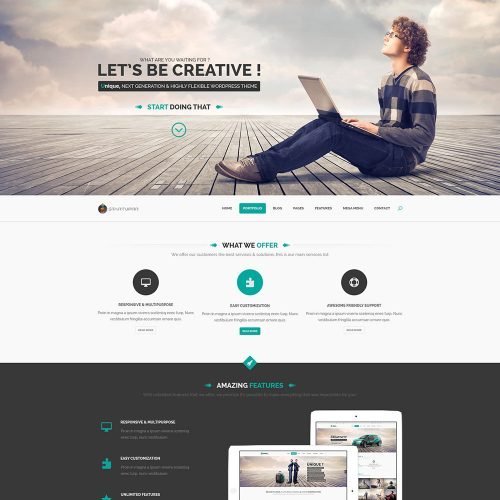 Free startup landing page template free psd at for Free landing page templates for wordpress