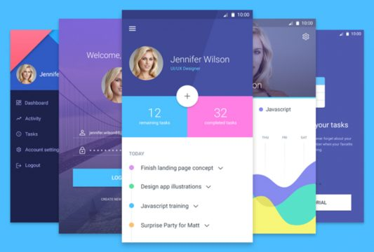 Task and To-do List App Free PSD