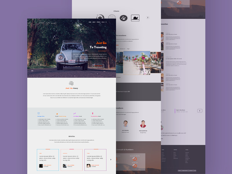 Travel Agency Website Template from freepsd.cc