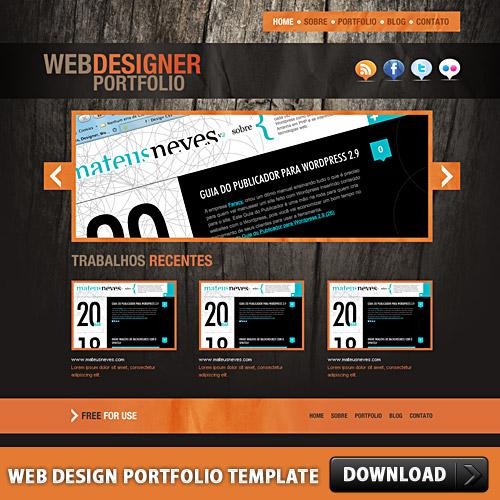 Free Web Design Portfolio Template Psd At Freepsd Cc