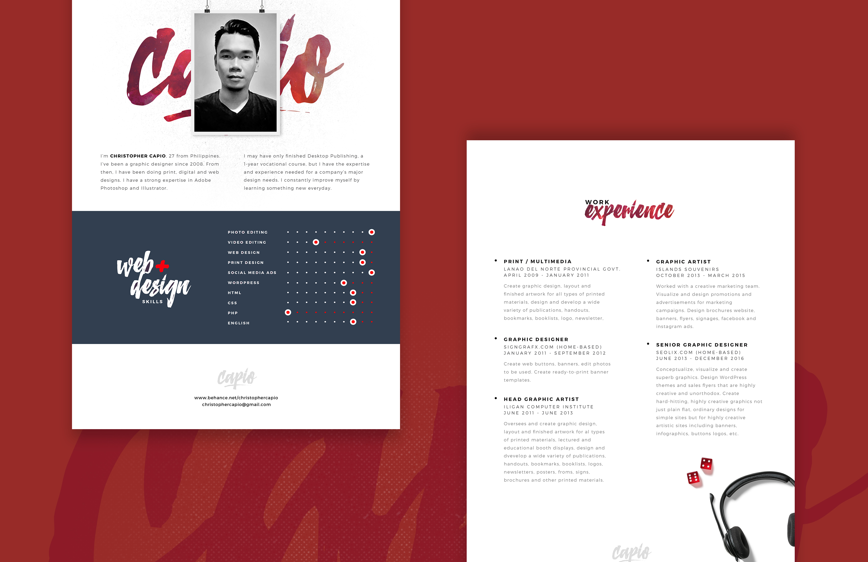 free web designer resume template free psd at freepsd cc