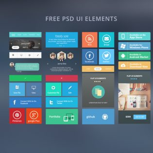 Web Free Ui Elements Free PSD