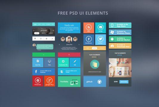Web Free Ui Elements Free PSD