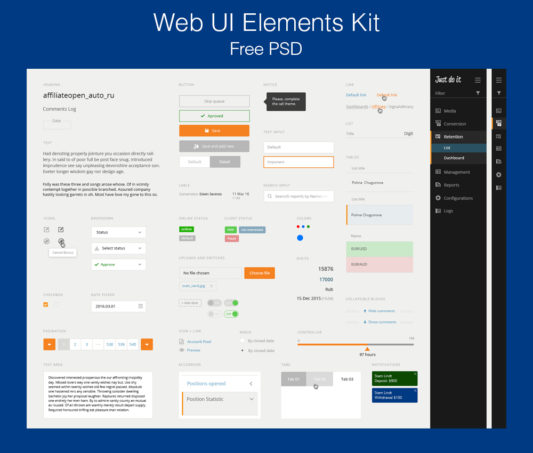 Web UI Elements Kit PSD