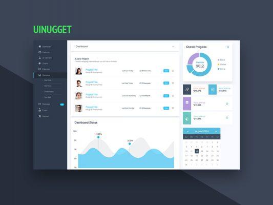Website Dashboard UI Design Template Free PSD