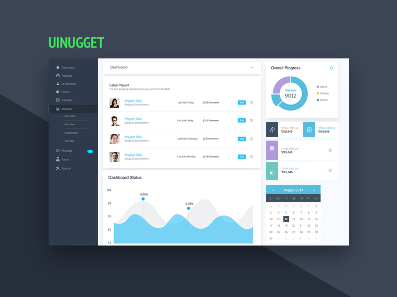 free website dashboard ui design template free psd at freepsd cc