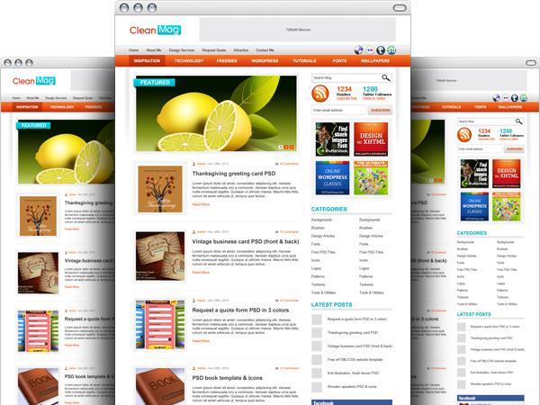 Free wordpress blog theme psd template at freepsd web elements web templates maxwellsz