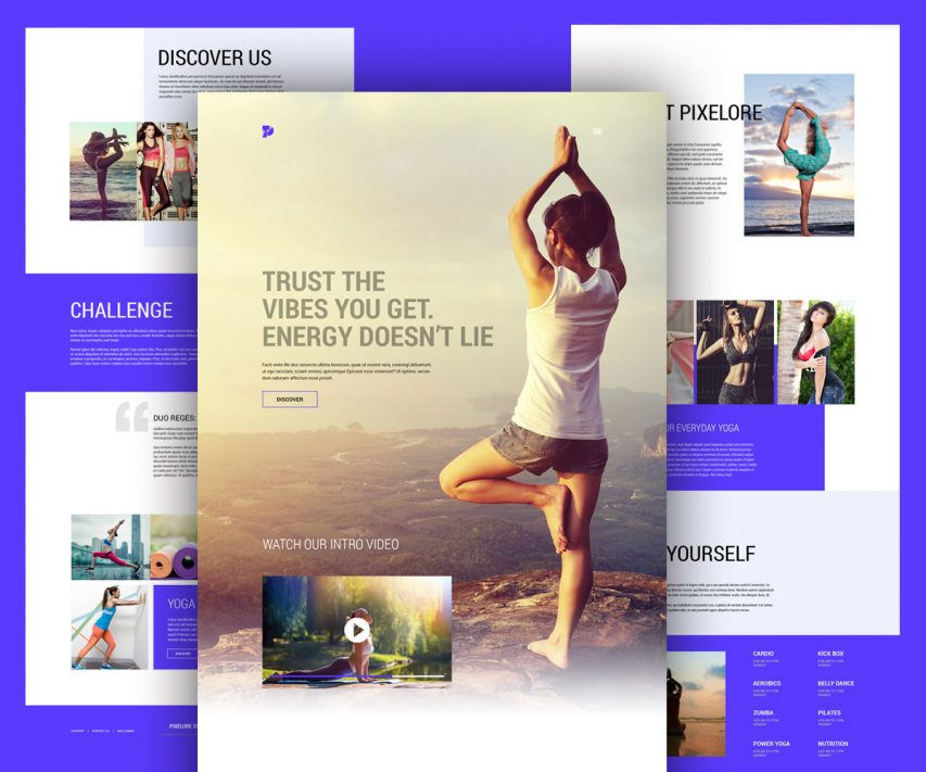 free yoga and fitness center website template free psd at freepsd cc