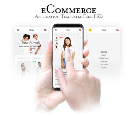 eCommerce Website App Templates PSD