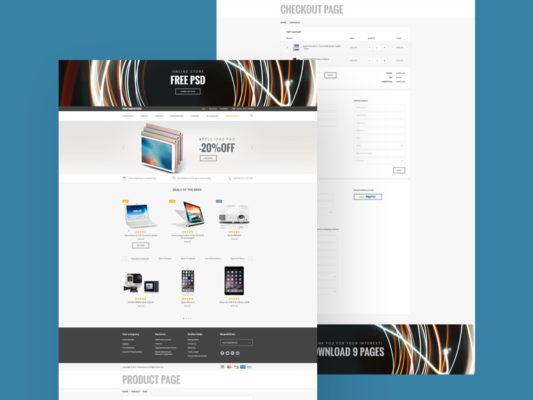 ecommerce website free templates