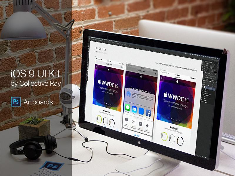 IOS 9 UI Kit PSD Freebie