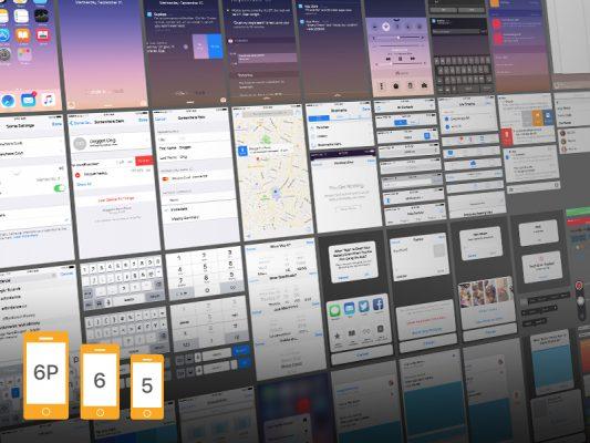 iOS 9 Ui Kit for iPhone 6s Plus Free PSD